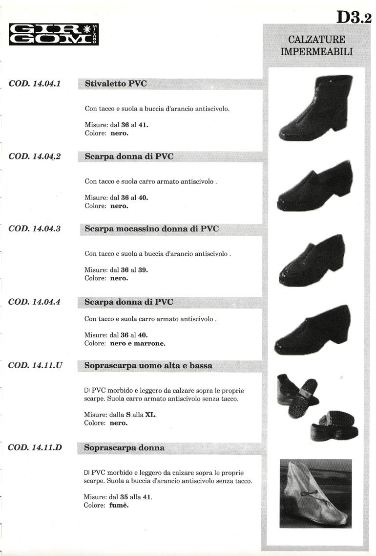 calzature imper. D-3.2