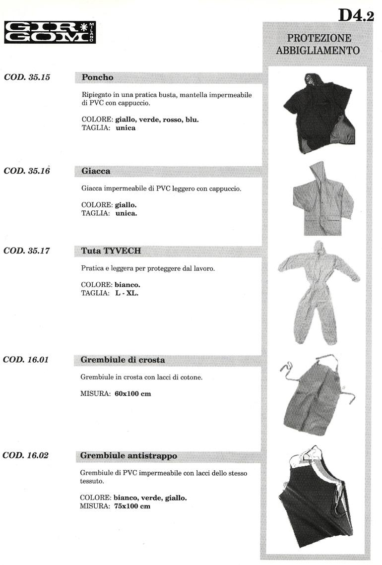 protezione abbigl. D-4.2