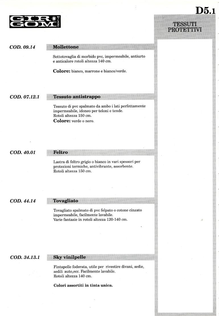 tessuti protettivi D-5.1