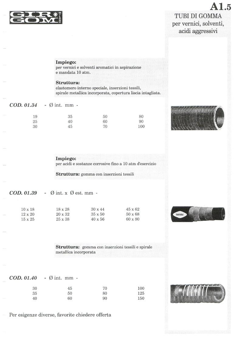 tubi gomma A-1.5