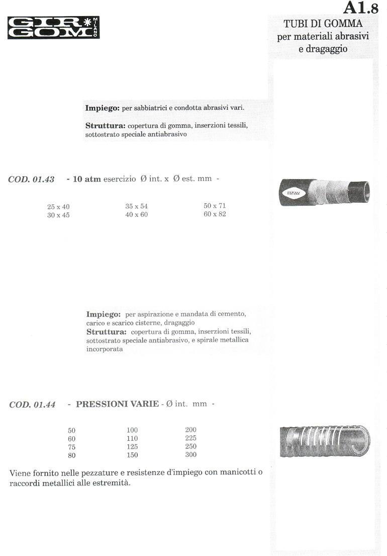 tubi gomma A-1.8
