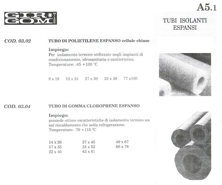 tubi isolanti A-5.1